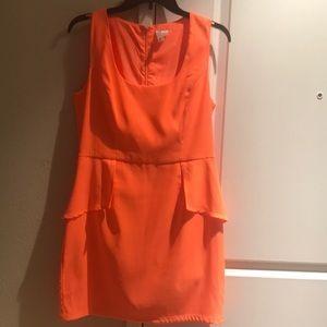 Fluorescent orange dress